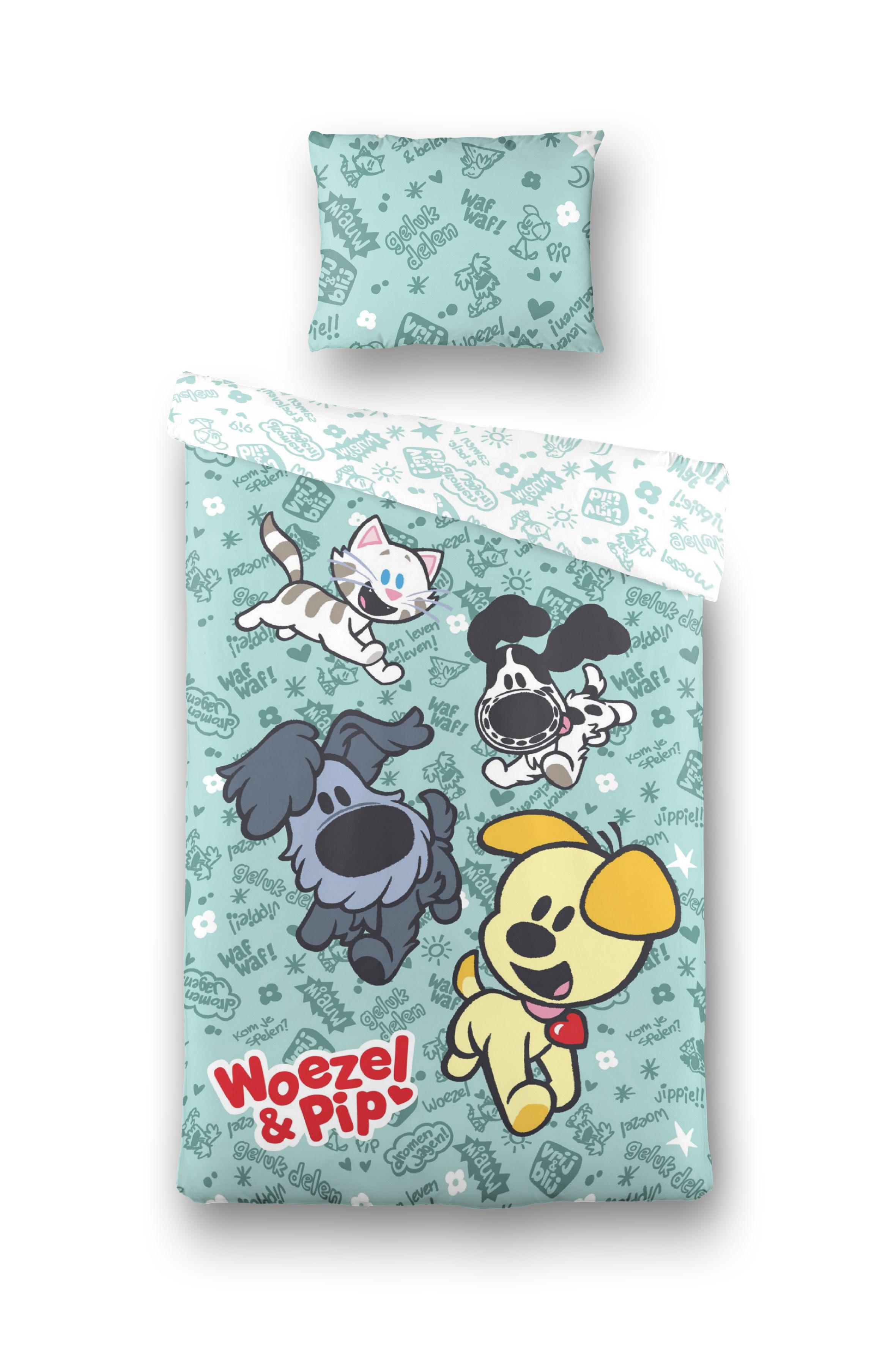WOEZEL & PIP Dekbed Overtrek Spelen Groen, 140x200