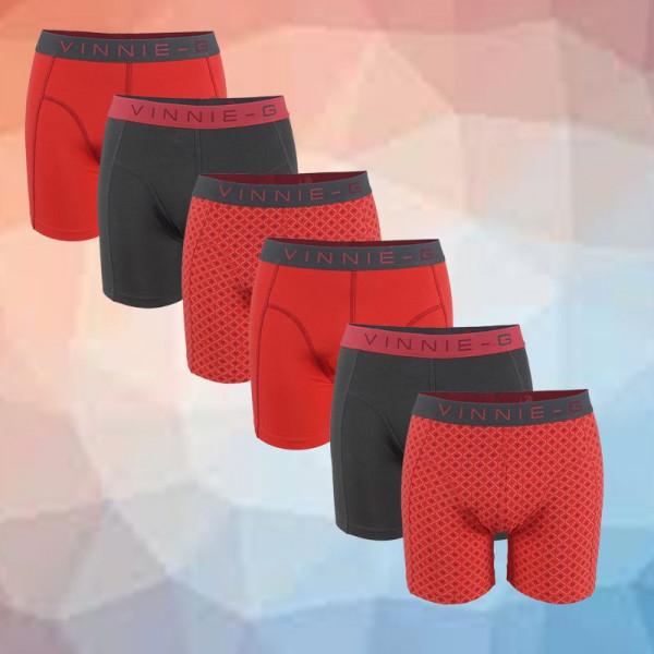 Dagaanbieding Vinnie-G boxershorts Flamingo 6-pack