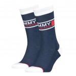 Tommy Hilfiger Uni Tj Sock Navy 2-Pack