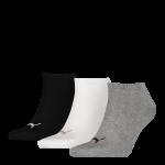 Puma sokken invisible 3-pack grijs-wit-zwart