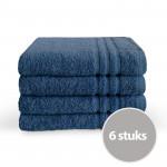 Byrklund Voordeelpakket Baddoek 50 x 100 Blauw - 6 stuks