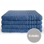 Byrklund Handdoek 70 x 140 Blauw - 6 stuks