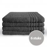 Byrklund Handdoek 70 x 140 Antraciet - 6 stuks