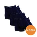 Cavello Boxershorts Zwart Blauw Print 6-Pack