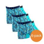 Cavello Boxershorts Blauw Print 6-Pack