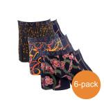 Cavello Boxershorts Verrassingspakket Oranje-Zwart 6-Pack