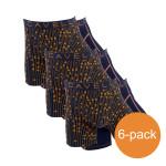 Cavello Boxershorts Zwart Print 6-Pack