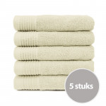 The One Handdoek 450 gram 50x100 cm Creme (5 stuks)