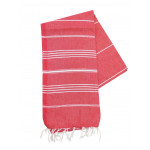 The One Towelling Hamamdoek Rood/Wit