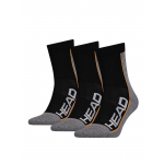 HEAD Stripe Performance Short 3-pack grey/black