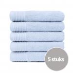 The One Handdoek 450 gram 50x100 cm Licht Blauw (5 stuks)
