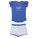 Lief! Girls shortama 40005 White Hearts