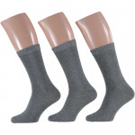 Apollo Heren Uni Katoen sokken Grey 40/46 3-pack
