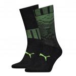 Puma sokken heren Black / Yellow 2-pack