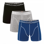 Muchachomalo Boxershorts Solid187 3 pack