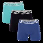 Muchachomalo Boxershorts Blue/Turqoise/Black 3-pack
