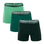 Muchachomalo boxershorts Solid Green 3-pack