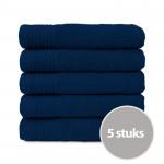 The One Handdoek 450 gram 50x100 cm Donker Blauw (5 stuks)