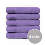 The One Handdoek 450 gram 50x100 cm Paars (5 stuks)