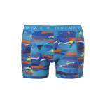 Ten Cate Men Printed Shorts 3224 Paint Blue