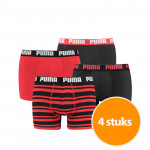 Puma Boxershorts 4-Pack Combi Basic/Stripe Re