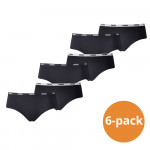 Puma Hipster Dames Zwart 6-Pack