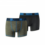 Puma Active Boxer Grizzly Melange Olive/Blue 2-Pack