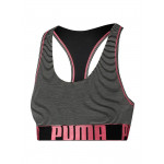 Puma Dames Yarn Dyed Mini Stripe Racer Back Bra Zwart/Roze