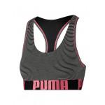Puma Dames Yarn Dyed Mini Stripe Racer Back Bra Zwart/Roze
