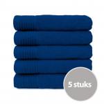 The One Handdoek 450 gram 50x100 cm Royal Blue (5 stuks)