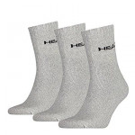 Head Short Crew Sock 3-pack Grey