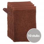 The One Voordeelpakket Washandjes Bruin - 10 stuks
