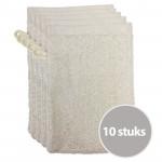 The One Voordeelpakket Washandjes Creme - 10 stuks
