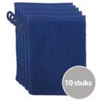 The One Voordeelpakket Washandjes Donkerblauw - 10 stuks
