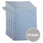 The One Voordeelpakket Washandjes Lichtblauw - 10 stuks