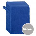 The One Voordeelpakket Washandjes Royal Blue - 10 stuks