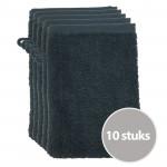 The One Voordeelpakket Washandjes Antraciet - 10 stuks