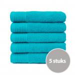 The One Handdoek 450 gram 50 x 100 cm Turquoise