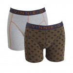 Vinnie-G boxershorts Military Olive Grey - Print 2-pack