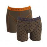 Vinnie-G boxershorts Military Olive - Print 2-pack