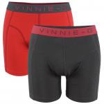 Vinnie-G boxershorts Flamingo  Rood - Antraciet Uni 2-pack