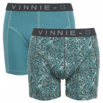 Vinnie-G boxershorts Leaves Print-Light 2-pack
