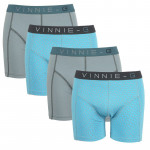Vinnie-G boxershorts Wave Dark-Print 4-pack