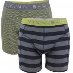 Vinnie-G boxershorts Lime Dot - Stripe 2-pack