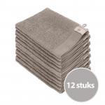 Walra Soft Cotton Voordeelpakket Washandjes Taupe - 12 stuks