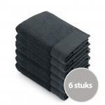 Walra Soft Cotton Voordeelpakket Baddoek 60x110 Antracite - 6 stuks
