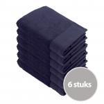 Walra Soft Cotton Voordeelpakket Baddoek 60x110 Navy - 6 stuks