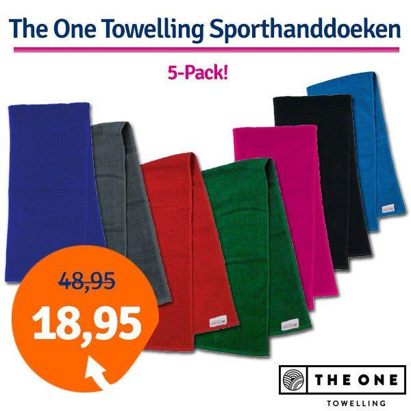 Dagaanbieding - Dagaanbieding The One Towelling Sporthanddoeken 5 stuks dagelijkse koopjes