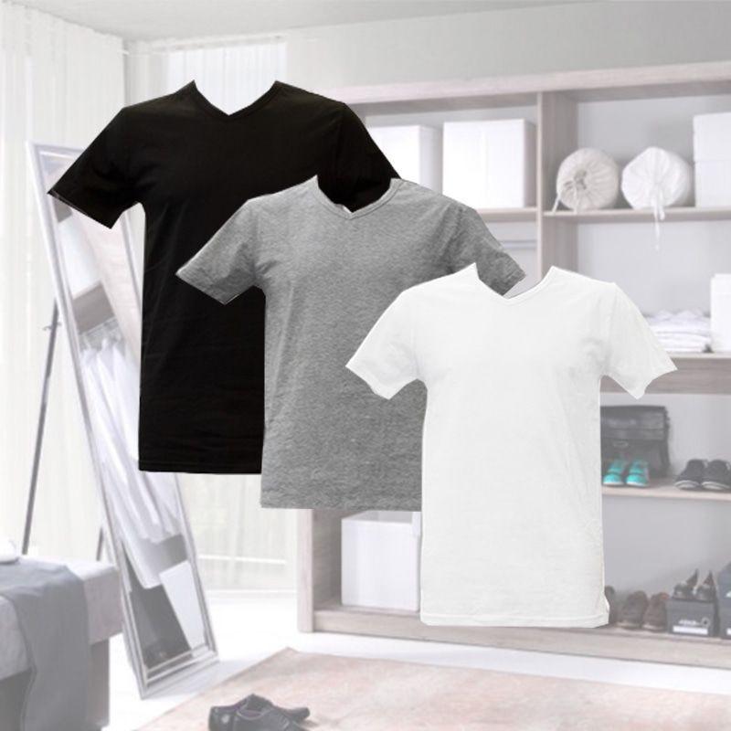 Dagaanbieding - Dagaanbieding Apollo basic t-shirts 6-pack dagelijkse koopjes