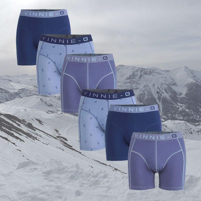Dagaanbieding - Dagaanbieding Vinnie-G boxershorts Ski 6-pack dagelijkse koopjes